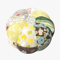 patchwork pouf obj