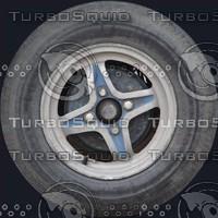 Old car wheel texture