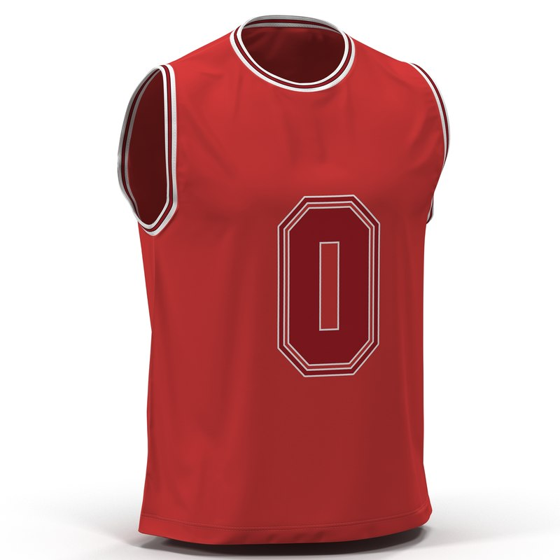 Basketball Jersey Red 3d model 01.jpg