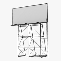 3d model old rooftop billboard 2