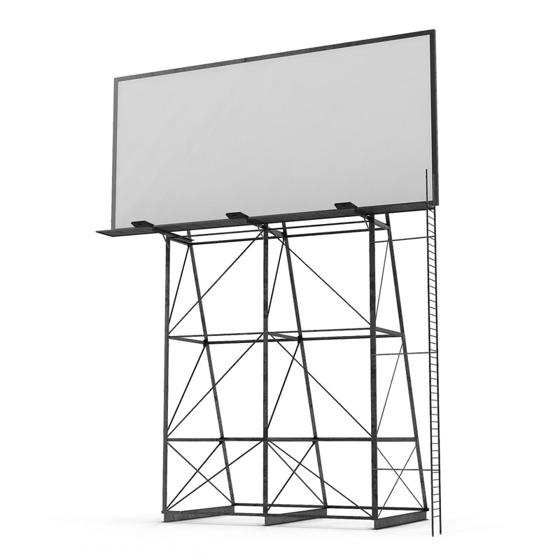 Old Rooftop Billboard 3d model 01.jpg