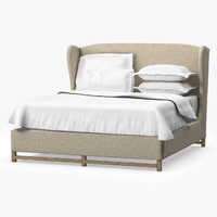 Restoration Hardware FRENCH WING UPHOLSTERED BED WITHOUT FOOTBOARD
