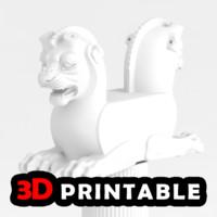 lion print 3d model