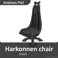 harkonnen chair 3d 3ds