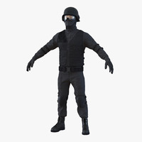 3ds max swat man asian 2