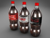 One Liter Coke Bottles