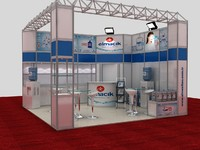 3d fair exhibition stand water