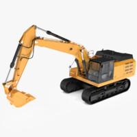 3d excavators tracks model