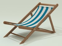 3d beach chair