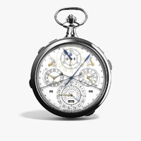 vacheron constantin 57260 pocket watch 3d obj