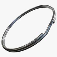 3d model tie rings