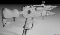 gun designed 3d model