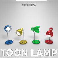 blender cartoon desk lamp toon