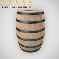 wine barrel 3d obj