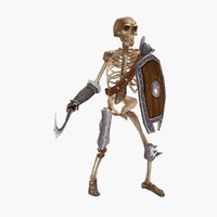fantasy skeleton 3d model