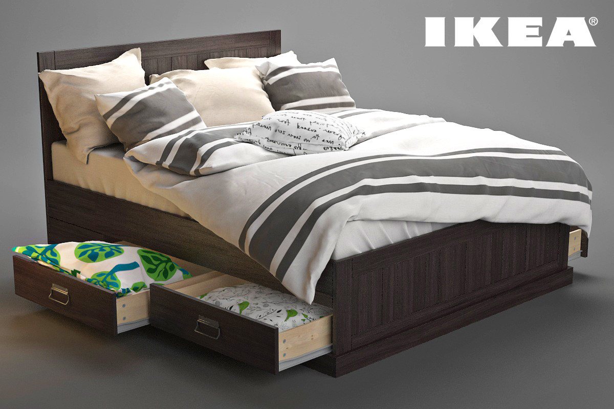 3ds ikea bed fjell. Black Bedroom Furniture Sets. Home Design Ideas