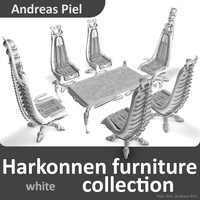 harkonnen chair capo 3d model