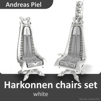 set harkonnen chair 3d c4d