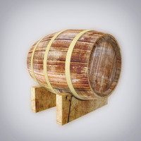 3d wine barrel model