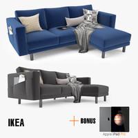 3d model ikea morsborg corner sofa
