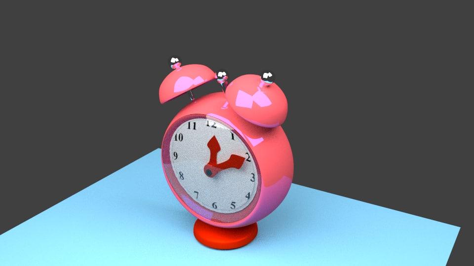 Simple alarm clock 3d model for Minimalist alarm clock