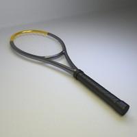 3d tennis raquet model