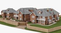 3d model british houses