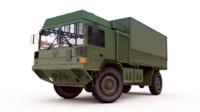 3d military man truck