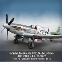 north american - hel-eter 3d model
