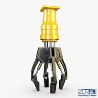 hydraulic grab v 3 3d max