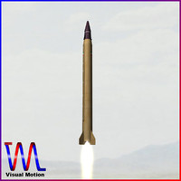 3d 3ds iranian emad ballistic missile