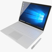 3d realistic microsoft surface book