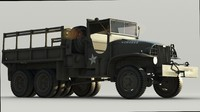 3d model of gmc cckw army cargo truck