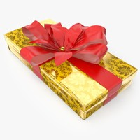 3d model christmas present