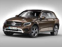 3d model mercedes benz glc