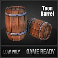 obj barrel toon