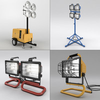 3d set work lights