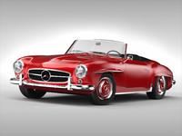 mercedes car 3d 3ds