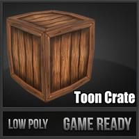 3d model of crate toon