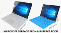 Microsoft Surface 4 Pro(Rigged) & Surface Book(Animated) Collection
