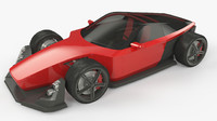 3ds max red car