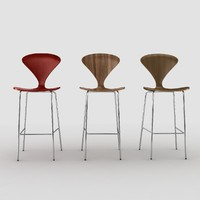 3d cherner stool chair