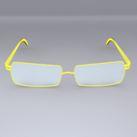 3d glasses yellow