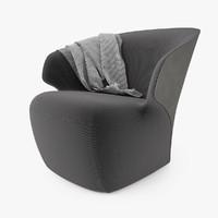 3d model zanotta arom armchair