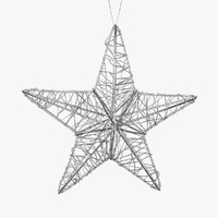 3d model christmas star decoration