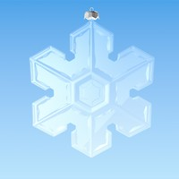 christmas snowflake decoration 2 3d model