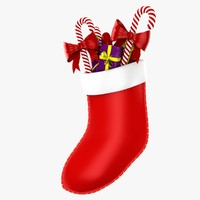christmas stocking 3d obj