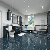 bathroom suite interior 3d max