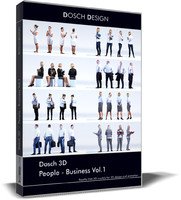 3d people - business vol 1 model