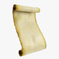 3d model scroll